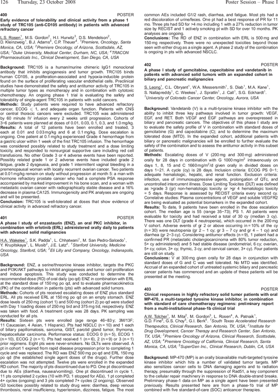 400 POSTER Early evidence of tolerability and clinical activity from