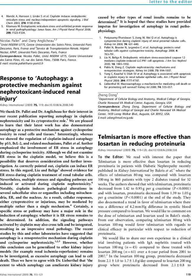Response to 'Autophagy: a protective mechanism against